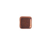 Glass Bead Square 8mm Opaque Black Bronze image