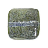 GLASS BEAD SQUARES 8mm STRUNG TWO-TONE SUGAR OLIVE GREEN image