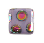 Glass Peacock Beads Square 8mm Violet Vitrail Medium image
