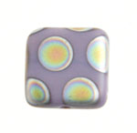 Glass Peacock Beads Square 8mm Violet Vitrail Med Matte image