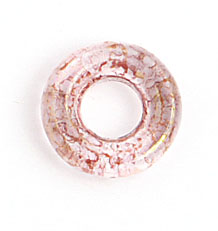 GLASS RINGS 9mm TR.CRYSTAL/PINK LUSTER image