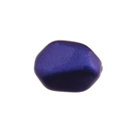 Glass Icy Stone 15x12mm Royal Blue Metallic image