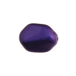 Glass Icy Stone 15x12mm Purple Metallic image