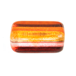 Glass Bead Rectangele 24x15mm Orange Yellow Pink image