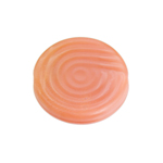 Glass Bead 18mm Round Twister Pattern Rose Silk image