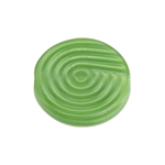 Glass Bead 18mm Round Twister Pattern Green Silk image