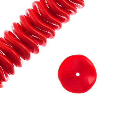 Czech Preciosa Ripple Beads Opaque Medium Red image