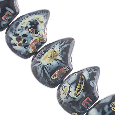 Glass Large Bears 12mm Black Op.Travertine image