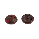 Czech Piggy Beads Loose 4/8mm Red Opaque Travertine image