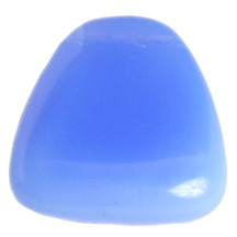 GLASS BEAD 23x24mm DROP STRUNG LT.BLUE OPAL image