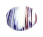 Glass Bead Oval 26x22mm Red Agate image