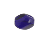 Glass 15x11mm Twisted Oval Transparent Cobalt Blue image