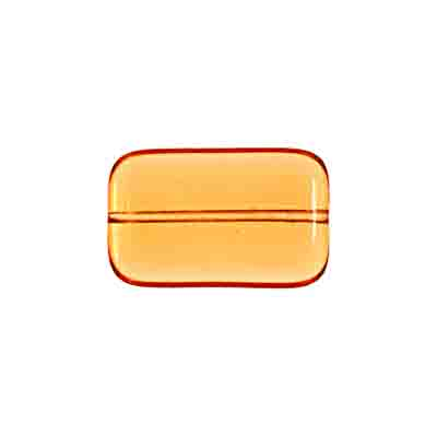 GLASS BEAD FLAT RECTANGLE STRUNG 19x12MM TOPAZ image