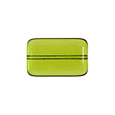 GLASS BEAD FLAT RECTANGLE STRUNG 19x12MM OLIVINE image