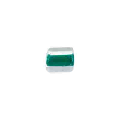 GLASS BEAD TUBULAR 32/0 8x7MM DARK GREEN image