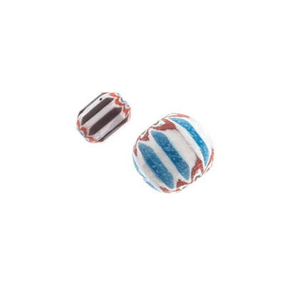 GLASS CHEVRON BEAD 6/8MM MULTI image