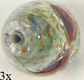 GLASS BEAD DROP/FOIL 21x12MM CRYSTAL image