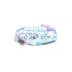 GLASS LAMP BEAD OVAL 18x8MM AQUA image