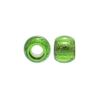 GLASS CROWBEAD 12MM/5MM HOLE S/L CHARTREUSE image