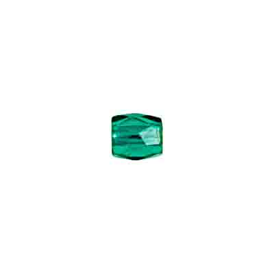 GLASS BEAD ORNELA CUT 7/7mm GREEN SILVER LINED image