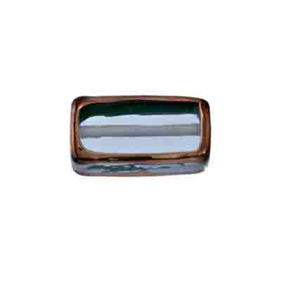 GLASS LAMP BEAD RECTANGLE 18x10x6MM MONT./BRONZE image