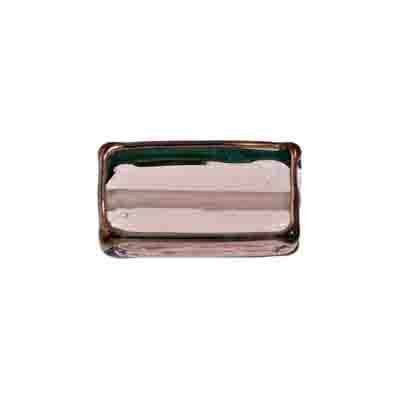 GLASS LAMP BEAD RECTANGLE 18x10x6MM ROSE./BRONZE image