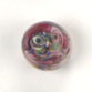 GLASS LAMP BEAD 15x11MM AMETHYST/ROSE image