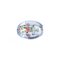 GLASS LAMP BEAD 15x11MM LT.SAPPHIRE/ROSE image