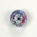 GLASS LAMP BEAD 8MM ROUND LT.SAPPHIRE/ROSE image