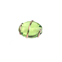 GLASS WIRED LAMP BEAD 12/8MM LT.GREEN image