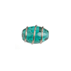 GLASS WIRED LAMP BEAD 12/8MM EMERALD image