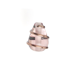 GLASS WIRED LAMP BEAD 13/9MM ROSALINE image