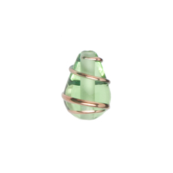GLASS WIRED LAMP BEAD 13/9MM LT.GREEN image