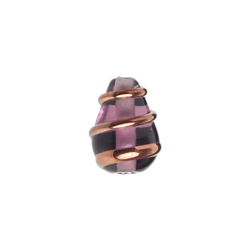 GLASS WIRED LAMP BEAD 13/9MM AMETHYST image