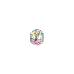 GLASS LAMP BEAD 6MM ROUND LT.SAPPHIRE/ROSE image