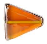 GLASS LAMP BEAD 22x18x5MM TOPAZ/BRONZE TRIANGLE image