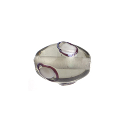 GLASS LAMP BEAD 14x10mm OVAL BLACK DIAMOND image
