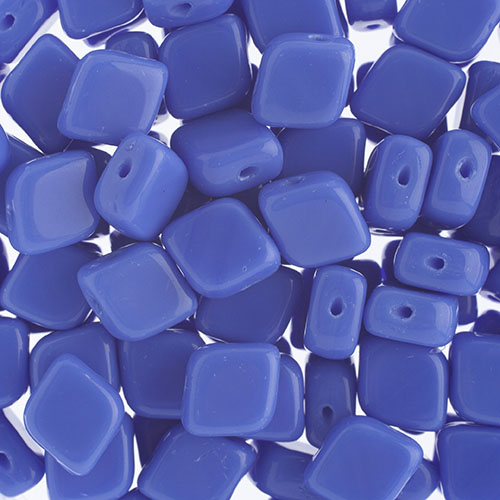 Czech Bead Rhombus 2Hole 10x8mm Blue image