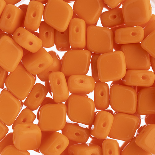 Czech Bead Rhombus 2Hole 10x8mm Orange image