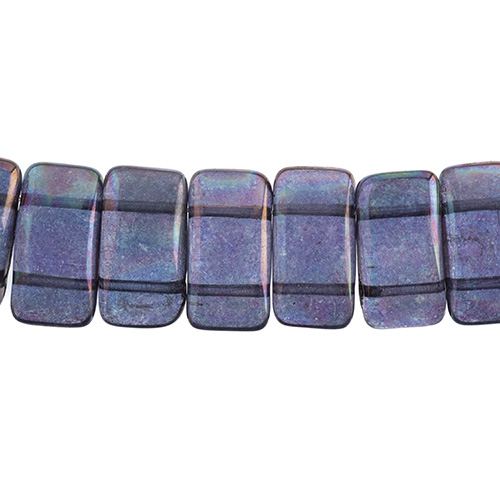 Czech Glass Bead Carrier 9x17mm Crystal/ Iris Vega Fullcoat image