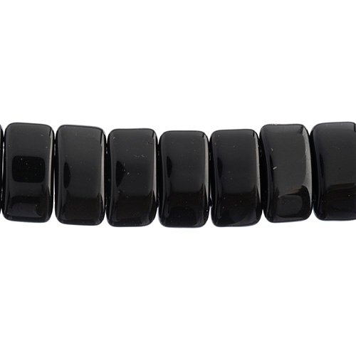 Czech Glass Bead Carrier 9x17mm Black image