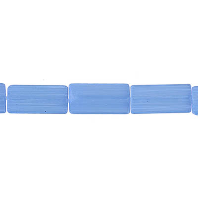 GLASS ATLAS BEADS 10x5mm BLUE SATIN - STRUNG image