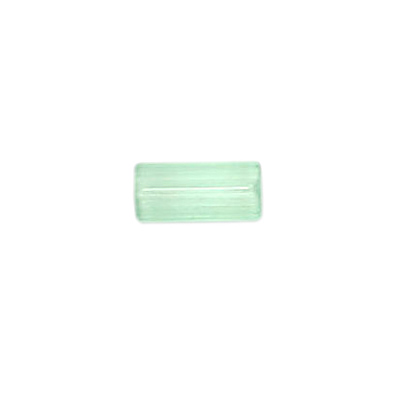 GLASS ATLAS BEADS 10x5mm GREEN SATIN - STRUNG image