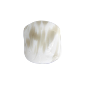 Glass Bead Pillow 15x17mm Opaque White Grey image