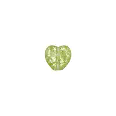 GLASS BEAD CRACKED 8mm HEART STRUNG LT.OLIVINE image