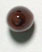 GLASS BEAD 12x7mm MARBLE BROWN STRUNG (X1)45pcs image