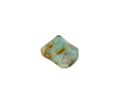 GLASS BEAD TWIST 11x10mm STRG. MUSTARD/TURQUOISE MARBLE image