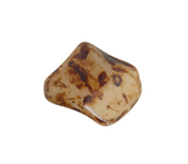 GLASS BEAD TWIST 11x10mm BROWN MARBLE image