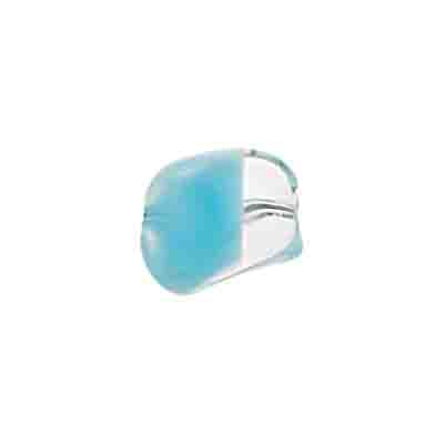 GLASS BEAD NUGGET 15mm LT.TURQ CRYSTAL STRUNG image