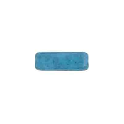 GLASS BEAD RECTANGLE 15x5mm BLUE MARBLE image
